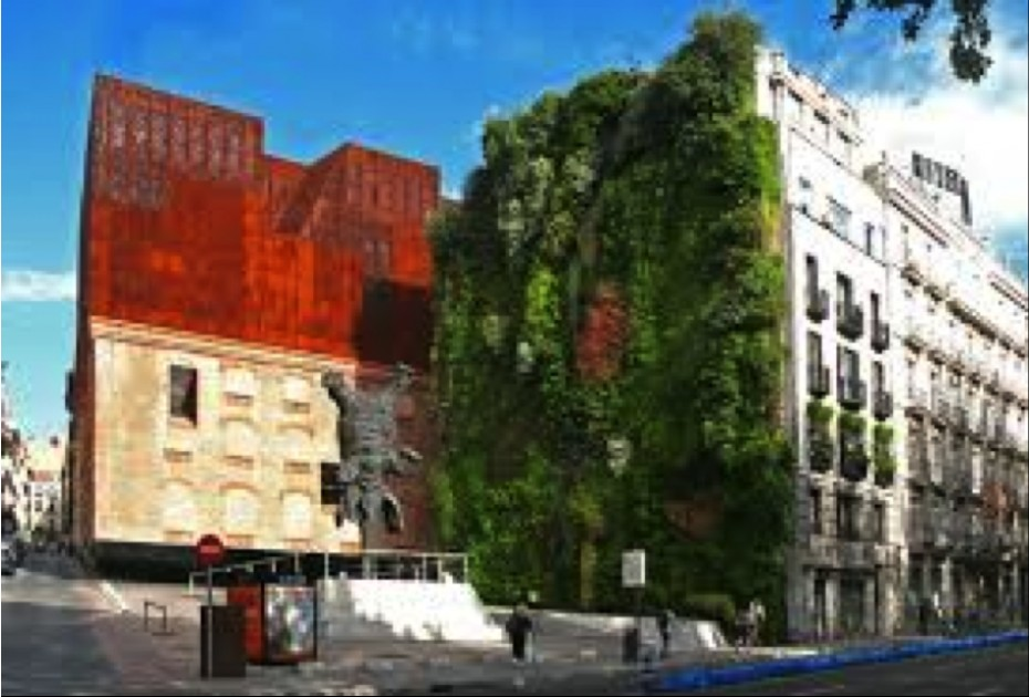 Jardín vertical de Caixa Fórum (Madrid)
